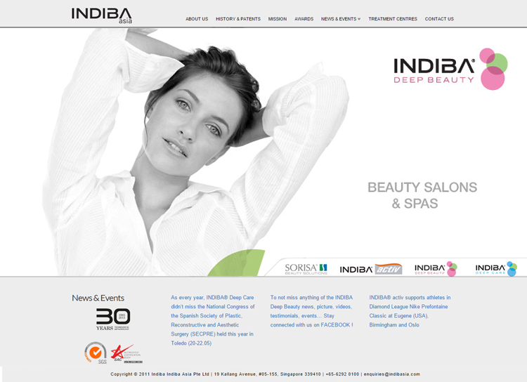 Indiba Website After