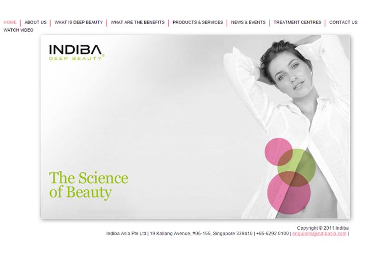 Indiba Website Before