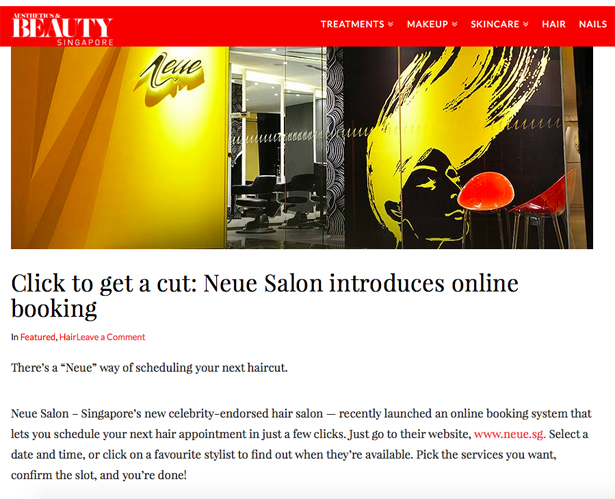 Neue Salon on A&B website