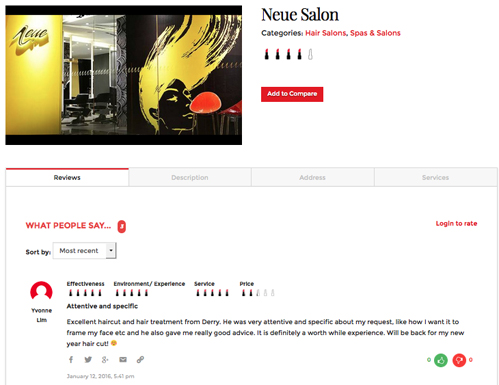 Neue Salon on BI website