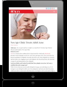 Neu age clinic articles Beauty Insider website