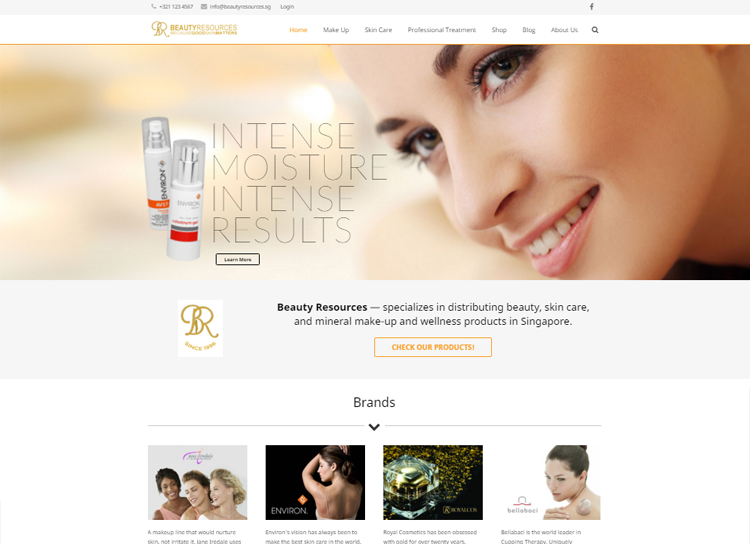 Beauty Resources Website After