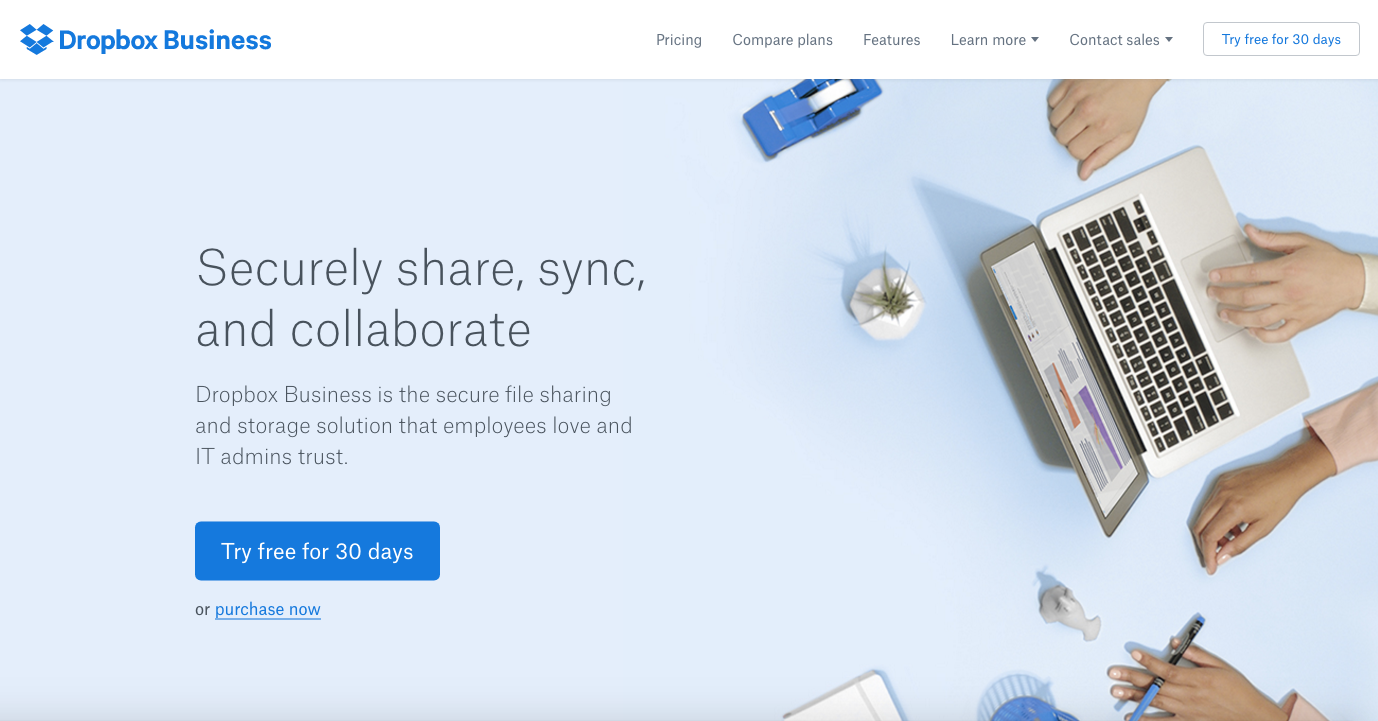top commerce sites dropbox