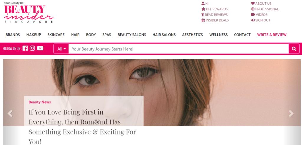 Beauty Insider Singapore